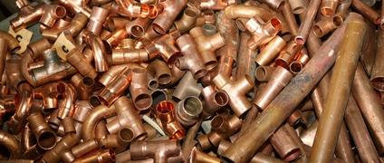 Kupferrohre sind wertvoller Kupferschrott
