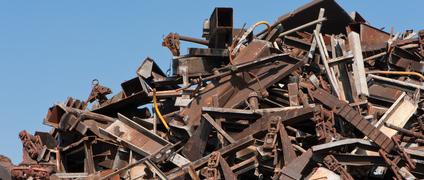 Stahlschrott und Moniereisen